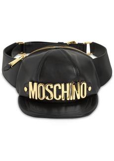 Moschino Macro Hat Leather Belt Bag