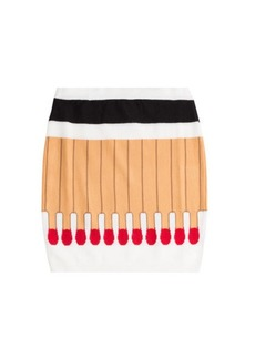 Moschino Matchstick Wool Skirt