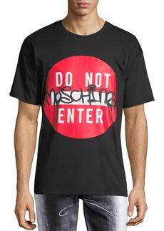 Moschino Men's Do Not Enter Graffiti Short-Sleeve T-Shirt