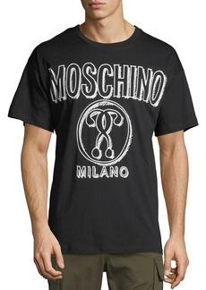 Moschino Men's Sketched Logo Graphic Print T-Shirt