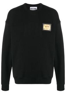 Moschino metal plaque logo sweatshirt