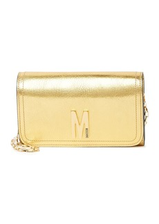 Moschino Metallic Flap Crossbody Bag