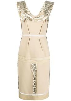 Moschino metallic jacquard detailing dress