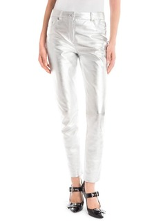 Moschino Metallic Leather Pants