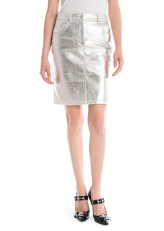 Moschino Metallic Leather Pencil Skirt
