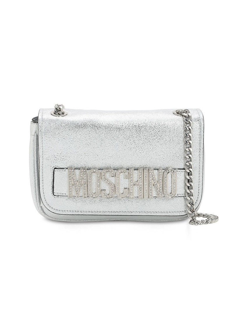 Moschino Metallic Leather Shoulder Bag