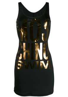 Moschino metallic logo mini dress