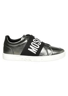 Moschino Metallic Logo Strap Sneakers