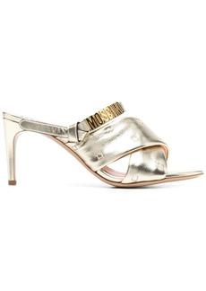 Moschino metallic mule sandals