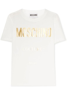 Moschino Metallic Printed Cotton-jersey T-shirt