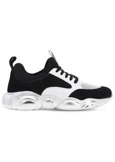 Moschino Metallic Techno & Leather Sneakers