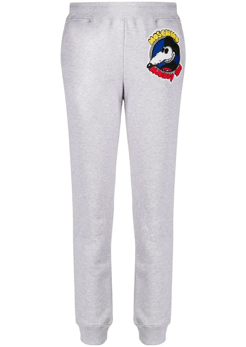 Moschino Mickey Rat patch track pants