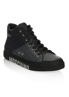Moschino Mid-Top Lace-Up Sneakers