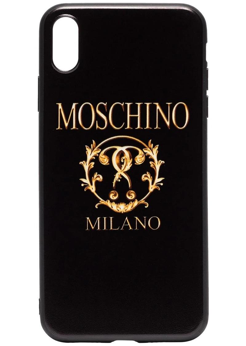 Moschino Milano logo iPhone XS Max case