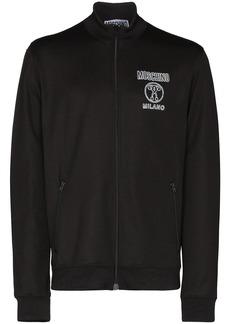 Moschino Milano logo print zipped sweatshirt