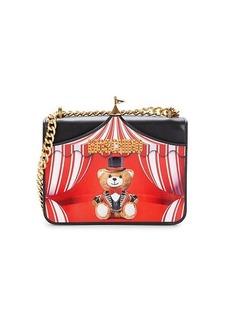 Moschino Mini Circus Bear Leather Crossbody Bag