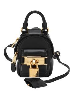 Moschino Mini Leather Backpack Key Holder