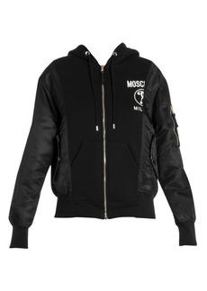 Moschino Mixed-Media Hooded Jacket