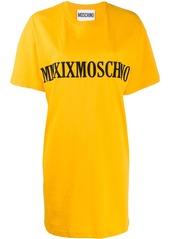 Moschino MMXIX embroidery T-shirt dress