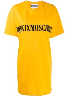 Moschino MMXIX embroidery T-shirt dress