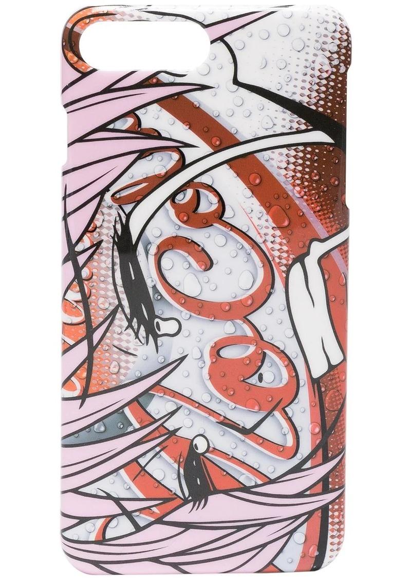Moschino Mo Cola print iPhone 8+ case