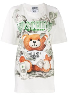 Moschino money Teddy print T-shirt