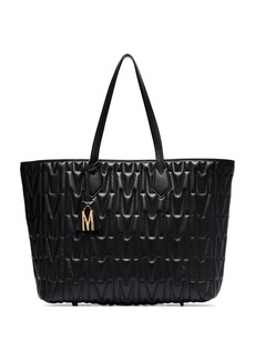 Moschino monogram-quilted tote bag