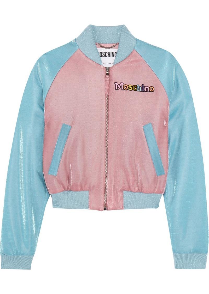 d029a85012c Moschino + My Little Pony appliquéd Lurex bomber jacket | Outerwear