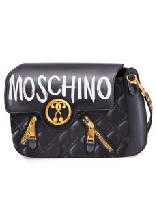 Moschino 2-D Graffiti Logo Shoulder Bag