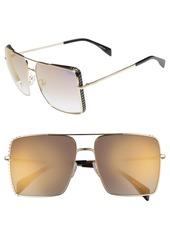 Moschino 50mm Square Flat Top Sunglasses