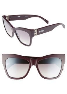 Moschino 53mm Cat's Eye Sunglasses