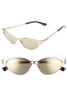 Moschino 54mm Mirrored Cat Eye Sunglasses