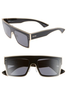 Moschino 54mm Polarized Flat Top Sunglasses