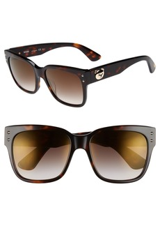 Moschino 56mm Gradient Lens Sunglasses