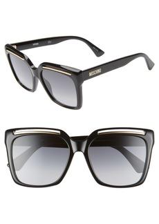 Moschino 56mm Gradient Square Sunglasses