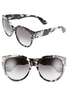 Moschino 56mm Round Sunglasses