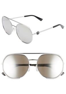 Moschino 57mm Mirrored Round Aviator Sunglasses