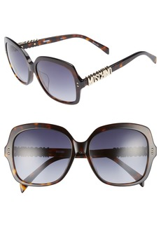 Moschino 57mm Oversized Polarized Sunglasses