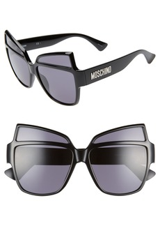 Moschino 58mm Butterfly Sunglasses