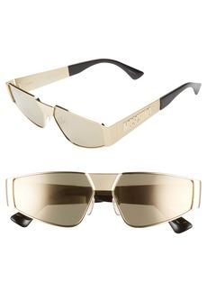 Moschino 59mm Small Shield Sunglasses