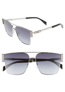 Moschino 60mm Aviator Sunglasses