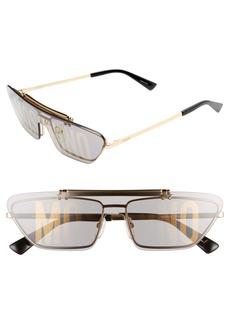 Moschino 60mm Flip Shade Flat Top Sunglasses