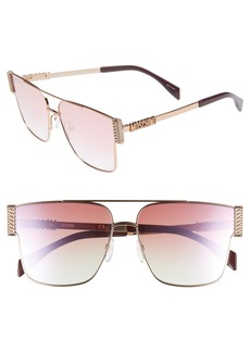 Moschino 60mm Polarized Aviator Sunglasses