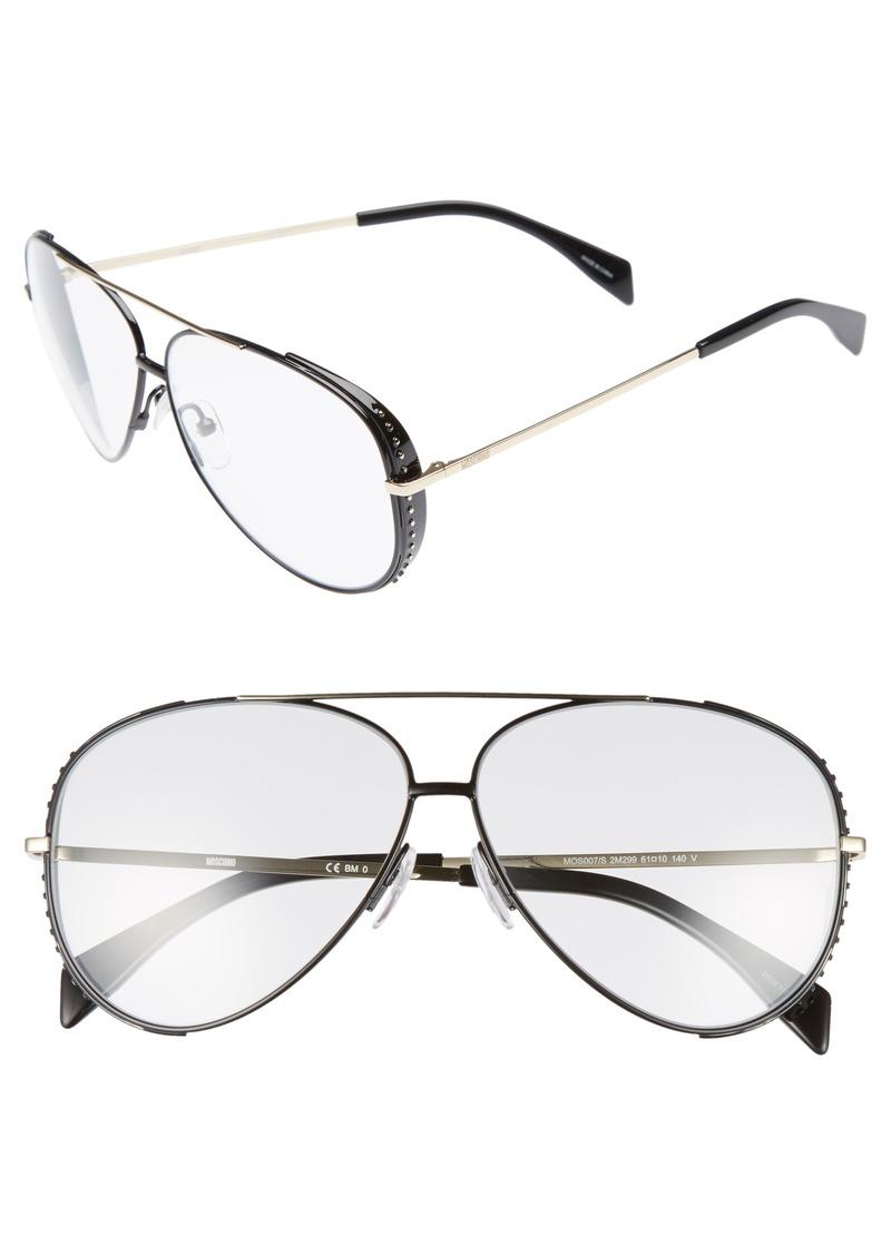3979ac7f29114 Moschino Moschino 61mm Metal Aviator Sunglasses