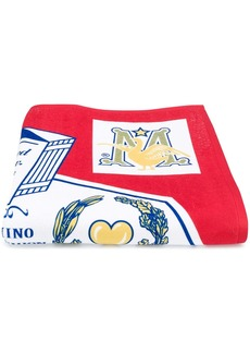 Moschino King of Clothes print towel