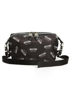 Moschino Allover Logo Nylon Fanny Pack
