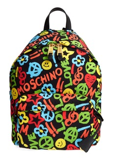 Moschino Archive Print Tactel® Nylon Backpack