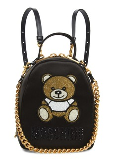 Moschino Beaded Teddy Satin Backpack