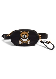 Moschino Beaded Teddy Satin Pouch
