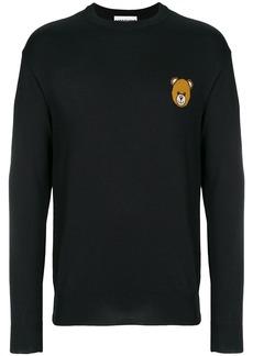 Moschino bear crest crewneck sweater - Black